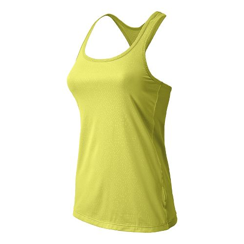 Womens New Balance Vitalize Layer Tanks Technical Tops - Solar Yellow M