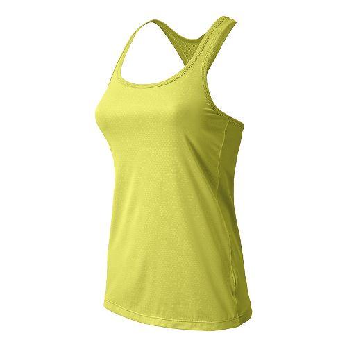 Womens New Balance Vitalize Layer Tanks Technical Tops - Solar Yellow XL