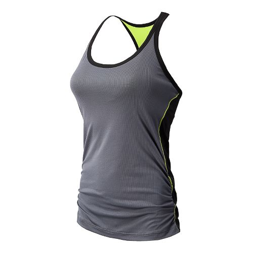 Womens New Balance Vitalize Hybrid Sport Top Bras - Black/Grey L