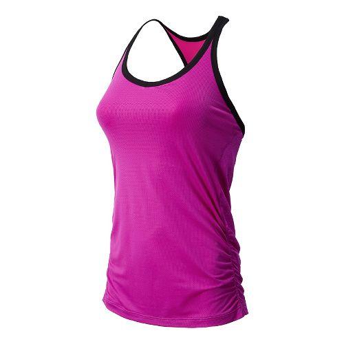 Womens New Balance Vitalize Hybrid Sport Top Bras - Poisonberry XS