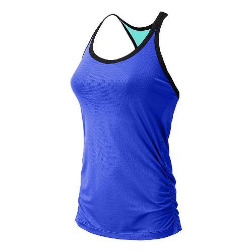Womens New Balance Vitalize Hybrid Sport Top Bras - UV Blue M