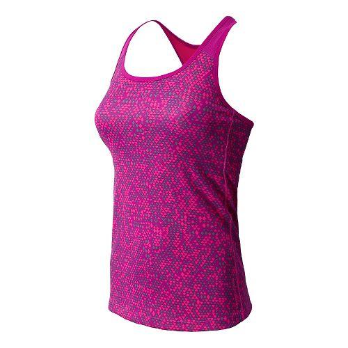 Womens New Balance Get Back Racerback Sports Bras - Poisonberry L