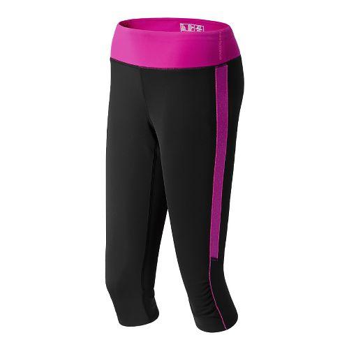 Womens New Balance Vitalize Capri Tights - Poisonberry XL
