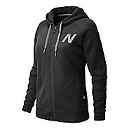 Womens New Balance Essentials Full Zip Hoodie Warm-Up Hooded Jackets