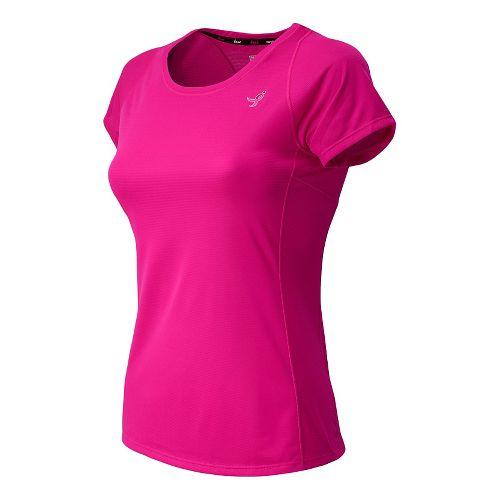 Womens New Balance Komen Accelerate Tee Short Sleeve Technical Top - PinkGlo L