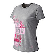 Womens New Balance Koman Barkin Tee Short Sleeve Technical Tops