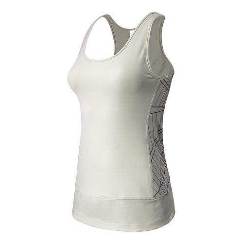 Womens New Balance Mantra Pratice Layer Tanks Technical Tops - Ivory M