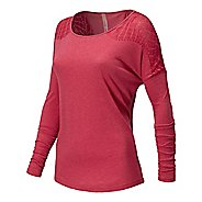 Womens New Balance Dasha Tee Long Sleeve No Zip Technical Tops