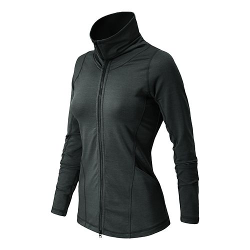 Womens New Balance Nirvana En Route Warm-Up Unhooded Jackets - Black XS