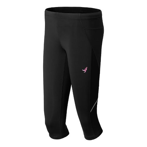Womens New Balance Lace Up Accelerate Capri Tights - Amp Pink L