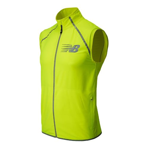 Mens New Balance Hi-Viz Beacon Running Vests - Hi-Lite M