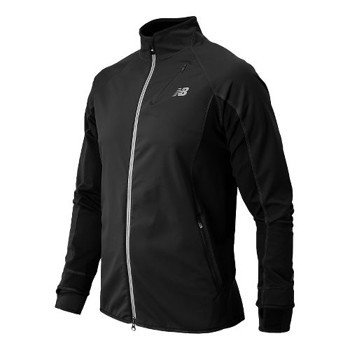 Mens New Balance Windblocker Running Jackets - Black XL