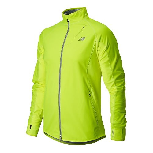 Mens New Balance Windblocker Running Jackets - Hi-Lite XXL