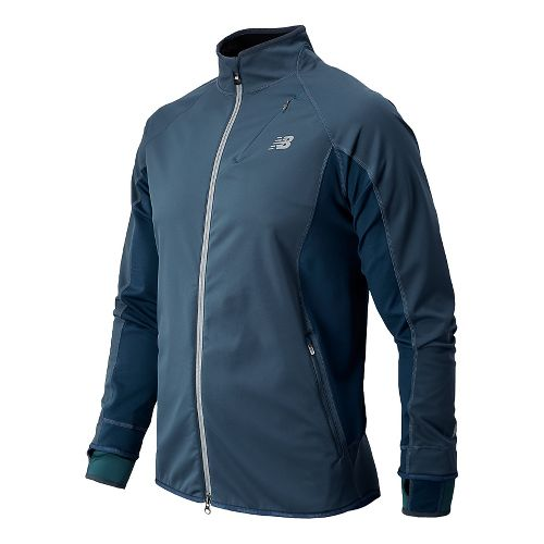 Mens New Balance Windblocker Running Jackets - Petrol L
