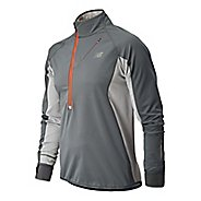 Mens New Balance Windblocker Long Sleeve 1/2 Zip Technical Tops
