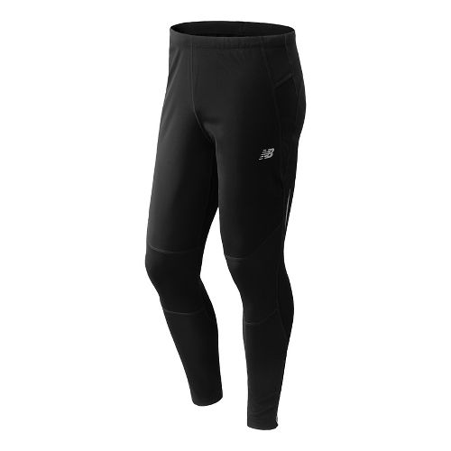 Mens New Balance Windblocker Fitted Tights - Black M