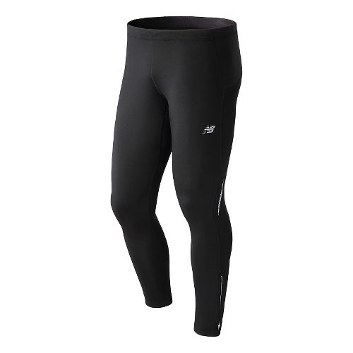Mens New Balance NB Heat Fitted Tights - Black XL
