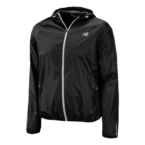 Mens New Balance Shadow Run Running Jackets - Black M