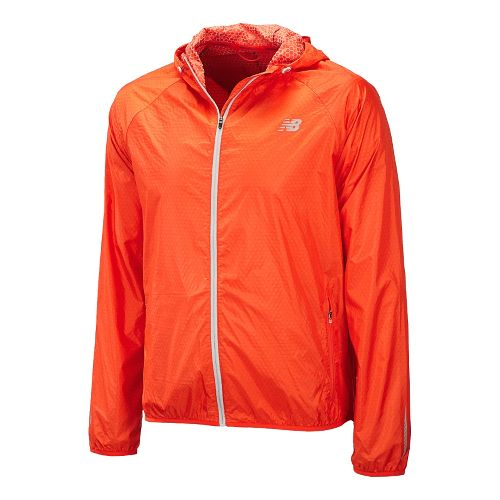 Mens New Balance Shadow Run Running Jackets - Fire Ball L
