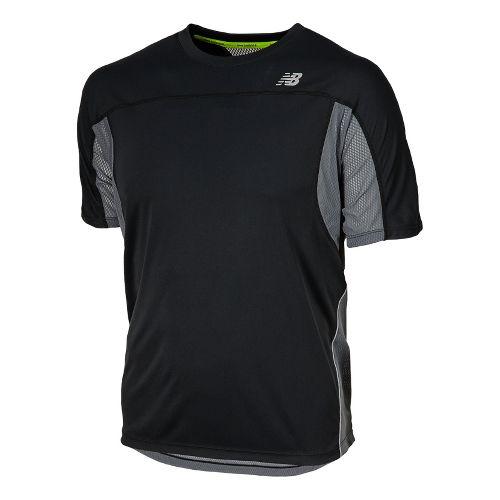 Mens New Balance NB Ice Short Sleeve Technical Tops - Black XL
