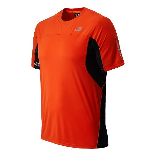 Mens New Balance NB Ice Short Sleeve Technical Tops - Fire Ball L