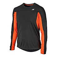Mens New Balance NB Ice Long Sleeve No Zip Technical Tops
