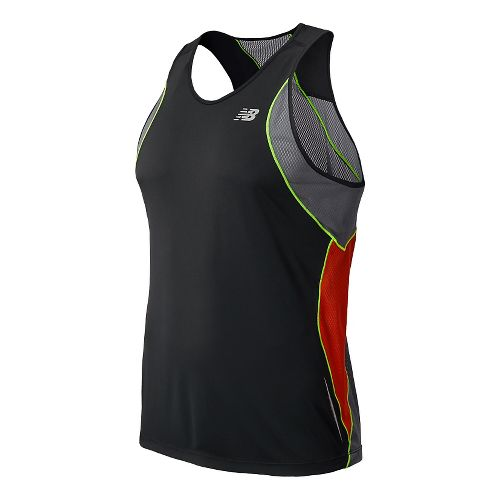 Mens New Balance NB Ice Singlets Technical Tops - Black M