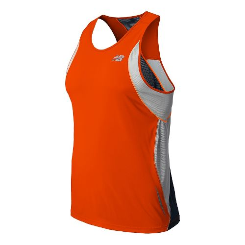 Mens New Balance NB Ice Singlets Technical Tops - Fire Ball L