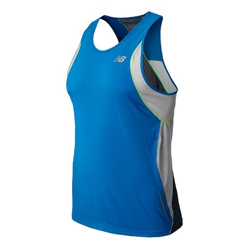 Mens New Balance NB Ice Singlets Technical Tops - Laser Blue XXL