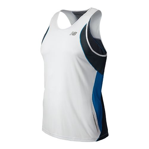 Mens New Balance NB Ice Singlets Technical Tops - White M