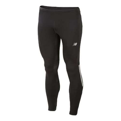 Mens New Balance Impact Fitted Tights - Black XL