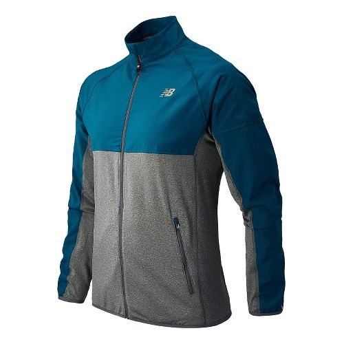 Mens New Balance Raptor Running Jackets - Deep Water S