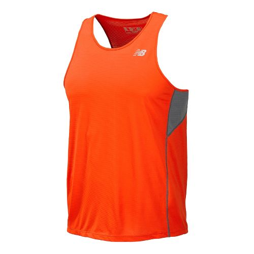 Mens New Balance Accelerate Singlets Technical Tops - Fire Ball L