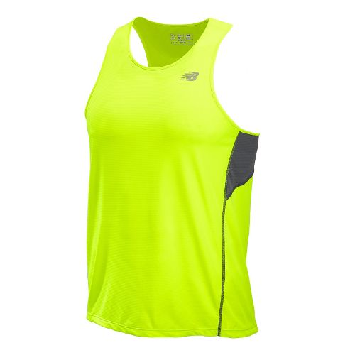 Mens New Balance Accelerate Singlets Technical Tops - Hi-Lite XL