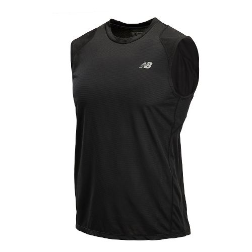 Mens New Balance Accelerate Sleeveless Technical Tops - Black XXL