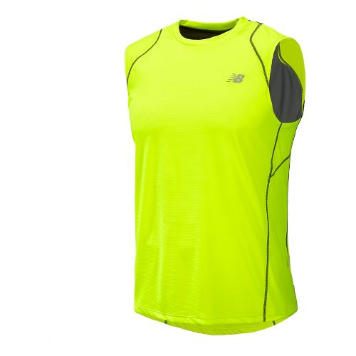 Mens New Balance Accelerate Sleeveless Technical Tops - Hi-Lite L