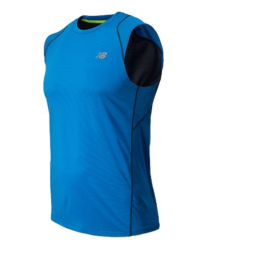 Mens New Balance Accelerate Sleeveless Technical Tops - Laser Blue L