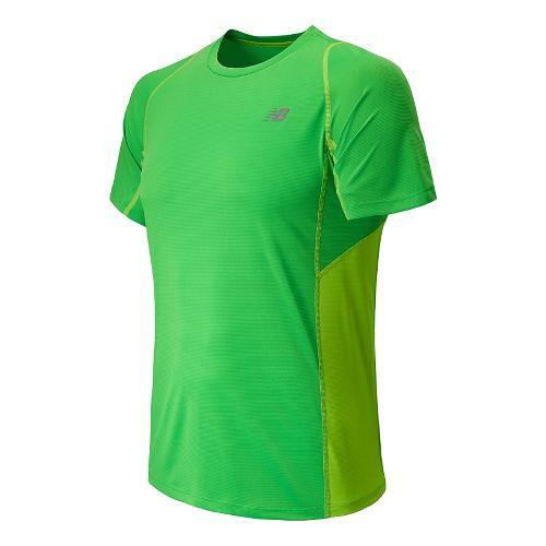 Mens New Balance Accelerate Short Sleeve Technical Top - Acidic Green XL