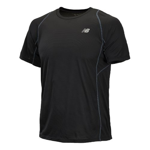Mens New Balance Accelerate Short Sleeve Technical Tops - Black XL