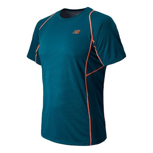 Mens New Balance Accelerate Short Sleeve Technical Tops - Deep Water M