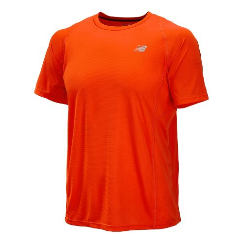 Mens New Balance Accelerate Short Sleeve Technical Tops - Fire Ball L