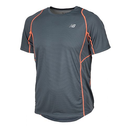 Mens New Balance Accelerate Short Sleeve Technical Tops - Lead XL