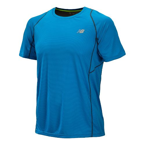 Mens New Balance Accelerate Short Sleeve Technical Tops - Laser Blue M