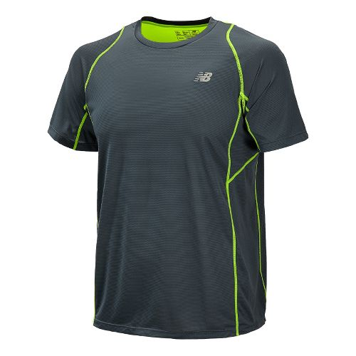 Mens New Balance Accelerate Short Sleeve Technical Top - Petrol L