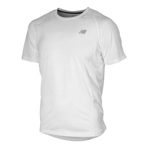 Mens New Balance Accelerate Short Sleeve Technical Tops - White L