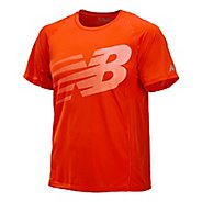 Mens New Balance Accelerate Graphic Short Sleeve Technical Tops