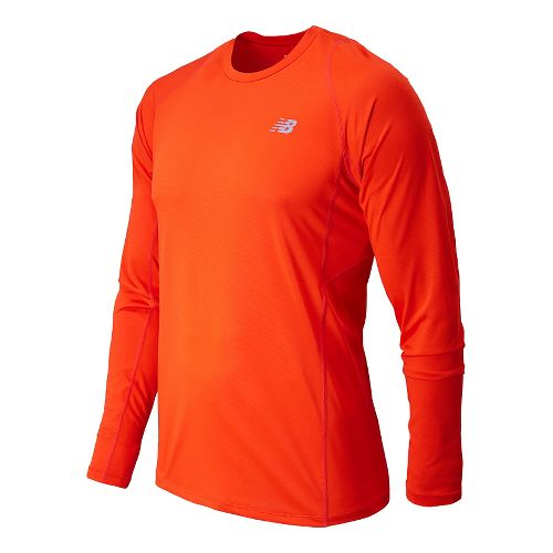 Mens New Balance Accelerate Long Sleeve Tee Technical Top - Fire Ball M