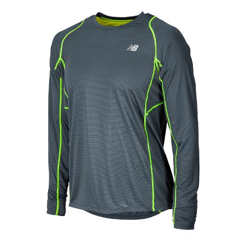 Mens New Balance Accelerate Long Sleeve Tee Technical Top - Petrol S