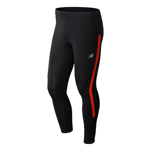 Mens New Balance Go 2 Fitted Tights - Fire Ball L