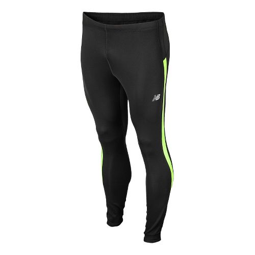 Mens New Balance Go 2 Fitted Tights - Hi-Lite M